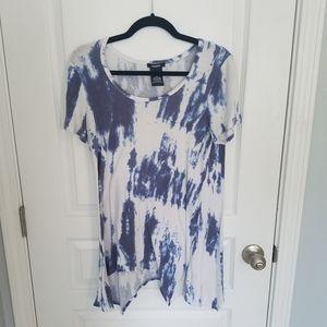 Premise Tie-Dye High Low Tunic Top